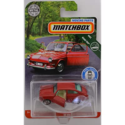 Matchbox Red '65 Volkswagen Type 3 Fastback 2020 Moving Parts Road Trip Series 1:64 Scale Collectible Die Cast Metal Toy Car Model with Opening Doors: Toys & Games