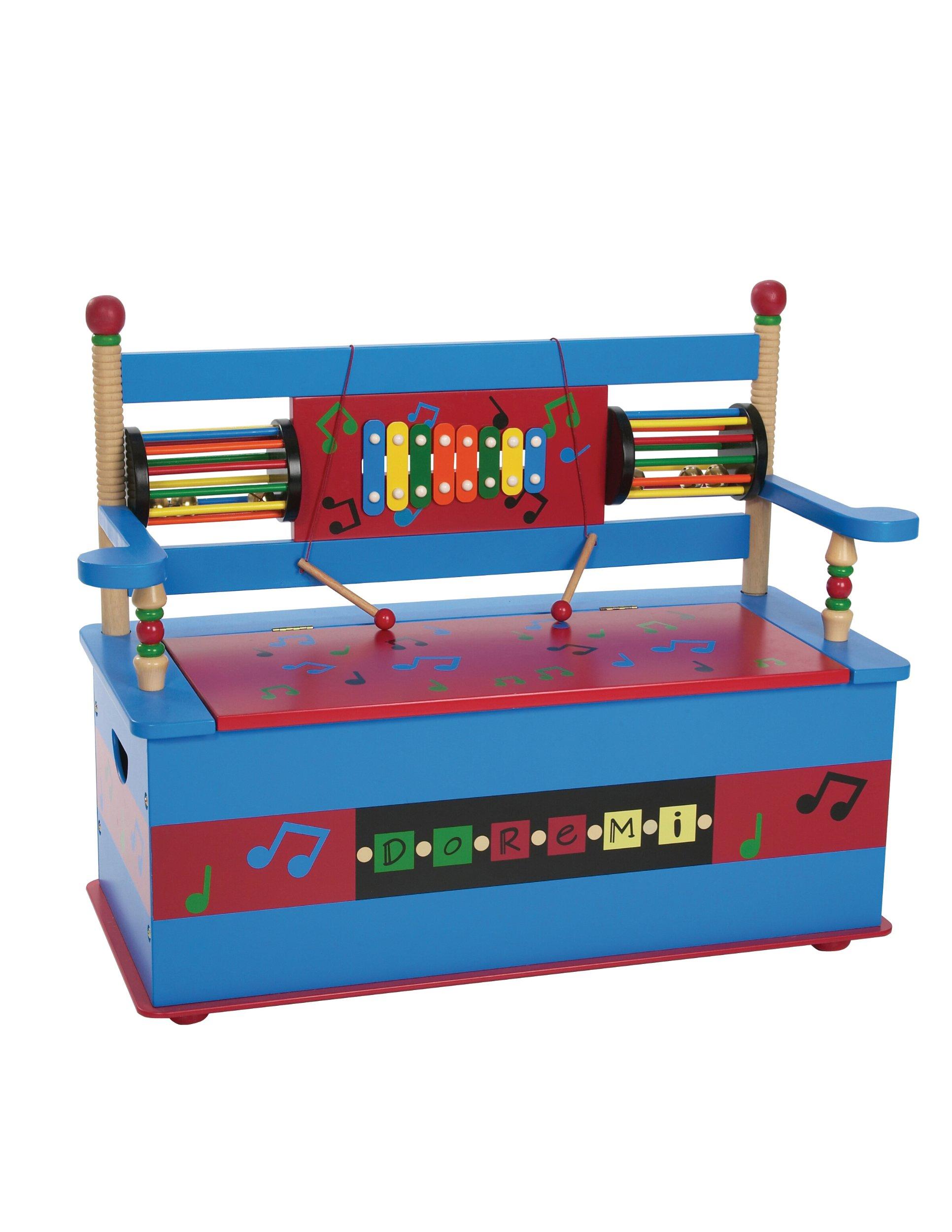 Wildkin Musical Toy Box Bench