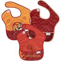 Bumkins Harry Potter SuperBib, Baby Bib, Waterproof, Washable, Stain & Odor Resistant, 6-24 Months, 3 Pack - Gryffindor
