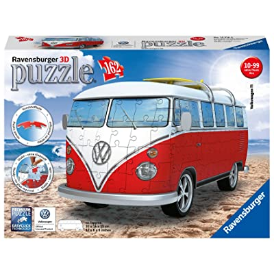 Ravensburger Volkswagen T1 Campervan 162 Piece 3D Jigsaw Puzzle for Kids and Adults - Easy Click Technology Means Pieces Fit Together Perfectly: Toys & Games