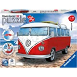 Ravensburger Volkswagen T1 Campervan 162 Piece 3D Jigsaw Puzzle for Kids and Adults - Easy Click Technology Means Pieces…