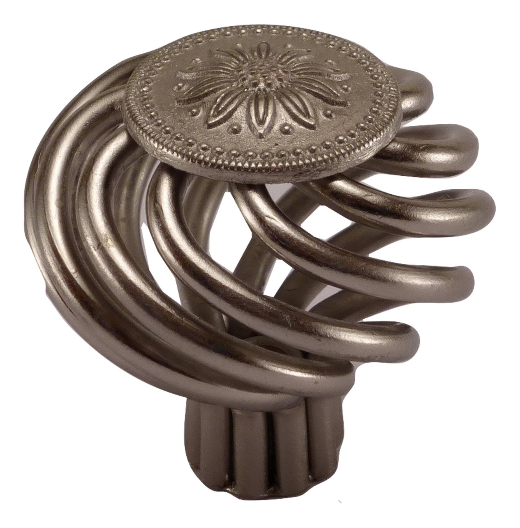 East West Consolidated 895SN-1 Satin Nickel Bird Cage Flower Cabinet Knob 1-3/8'' 35mm (Pack of 1)