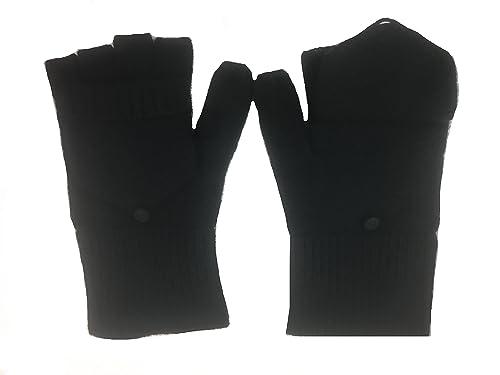 Guanti con cappuccio copri/scopriditta in 100% puro cachemire - Unisex - Comodissimi per l'uso del t...