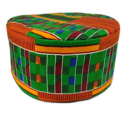 4e22be5f026 Amazon.com  Decoraapparel African Kids Hat Traditional Kente Print Kufi  Koofi Boys Cap Gold  Clothing