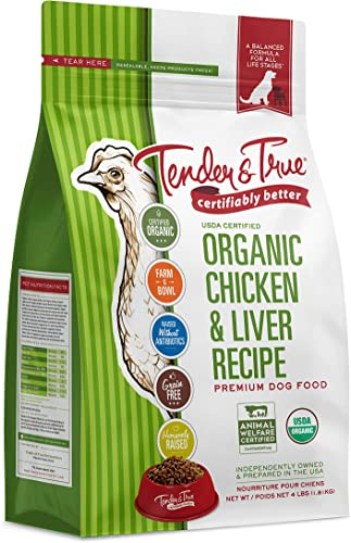 Tender True Organic Chicken Liver Recipe Dog Food