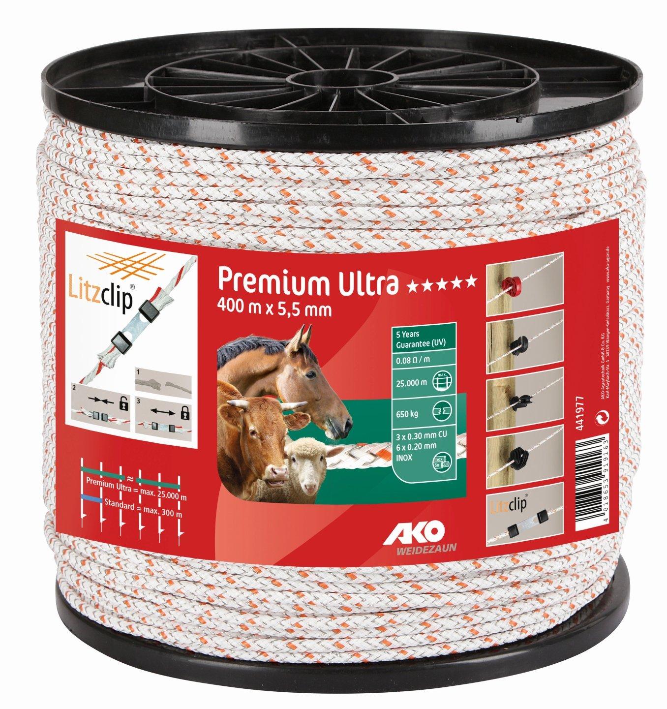 Premium Ultra Seil, 5,5mm,400m weiß/orange 6xniro 0,2+3xCU0,3 k441977