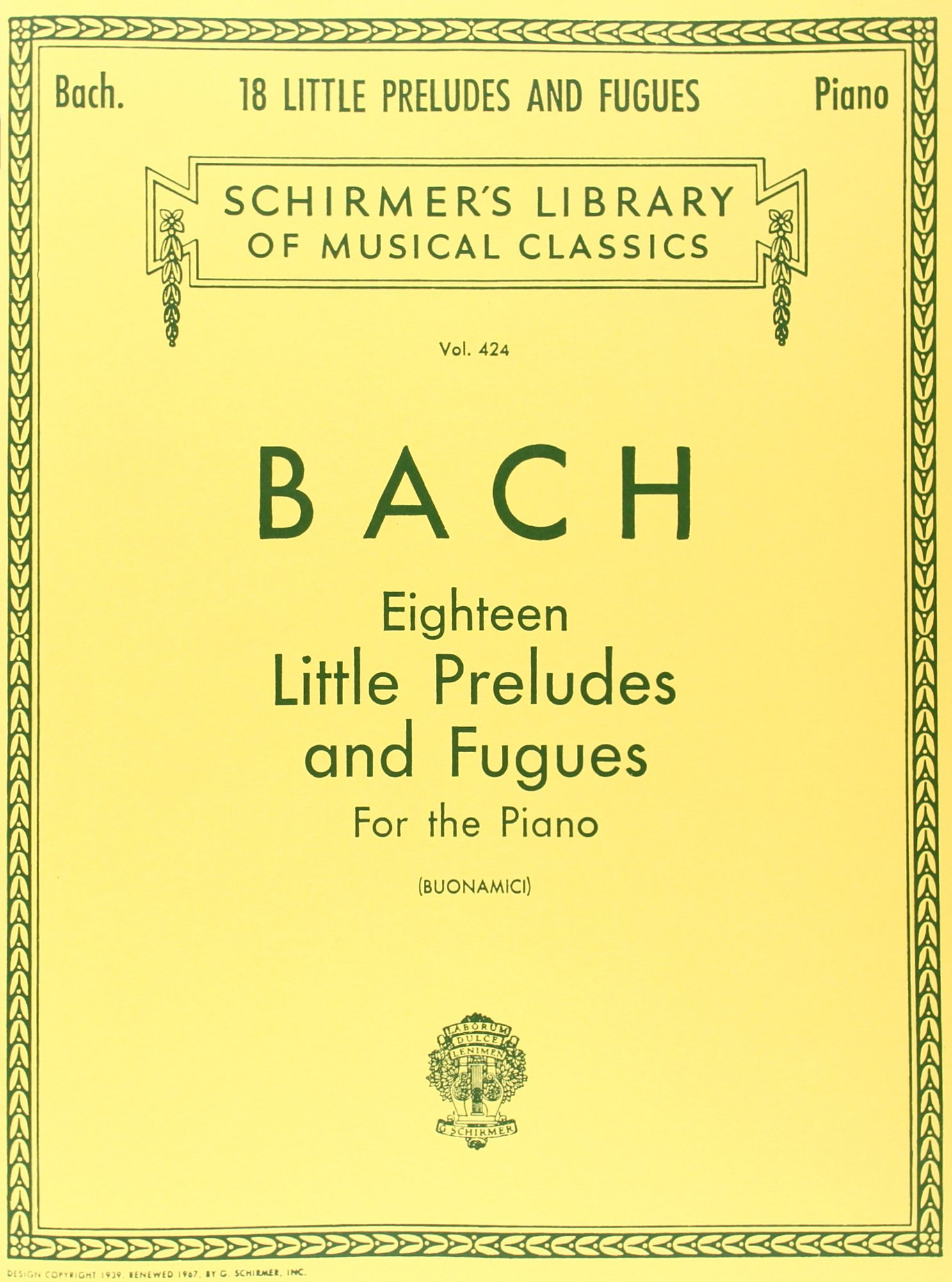 18 Short Preludes Book and CD Bach