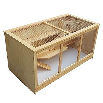 Jaula XXL Caseta madera tipo casa roedores animales pequeños conejera ratón hámster: Amazon.es: Productos para mascotas