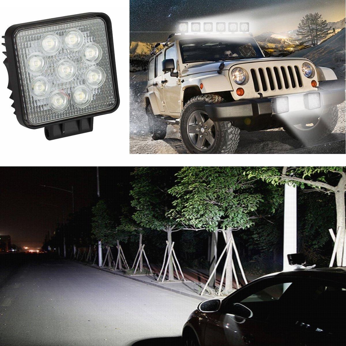 Fari per fuoristrada Faro anteriore,IP67 Impermeabile 12V 24V Luce retromarcia 8 * 27 W, rotondo Trattore per auto SUV ATV UTV SAILUN 8X27W LED Faro da lavoro