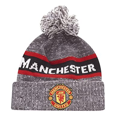 Manchester United Marl Jake Knit Bobble Football Beanie