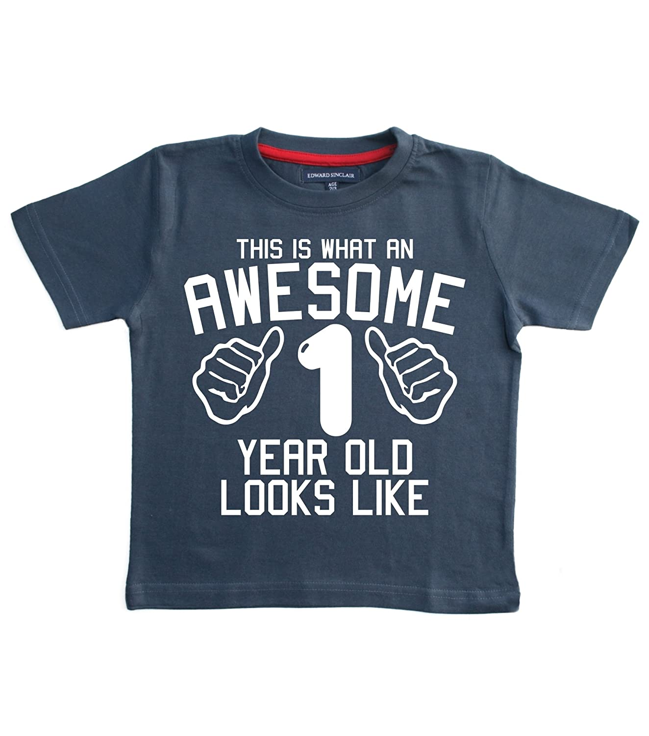 Edward Sinclair Baby Boys' This Is What An Awesome 1 Year Old Looks Like T-Shirt