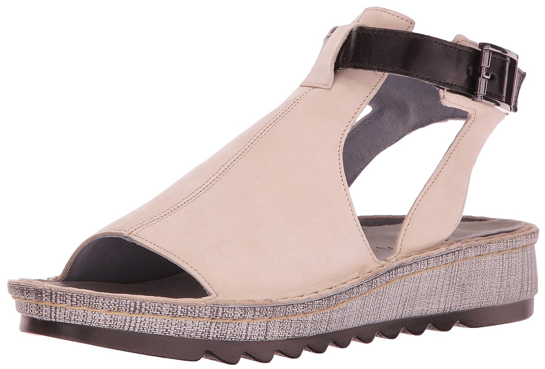 Naot Footwear Women's Verbena B01HT4RARK 35 (US Women's 4) M|Beige Nubuck/Black Madras Leather
