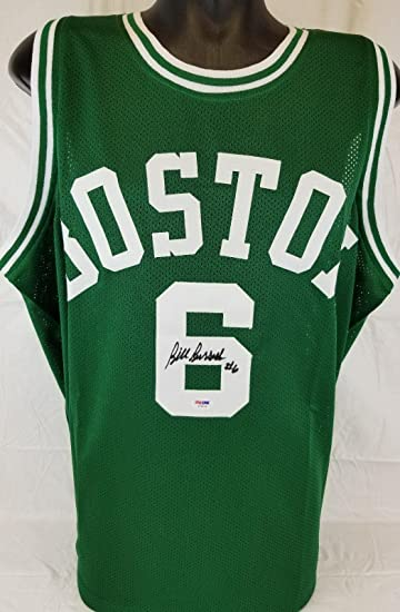 2240042aa Bill Russell Signed Jersey Boston Celtics Autographed coa W26438 autograph  - PSA DNA Certified -