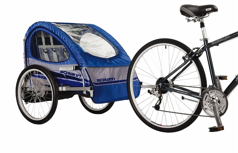 Amazon.com : Schwinn Trailblazer Double Bicycle Trailer (Blue/Gray) : Child  Carrier Bike Trailers : Sports & Outdoors