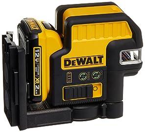 DEWALT DW0822LG 12V 2 Spot + Cross Line Laser, Green