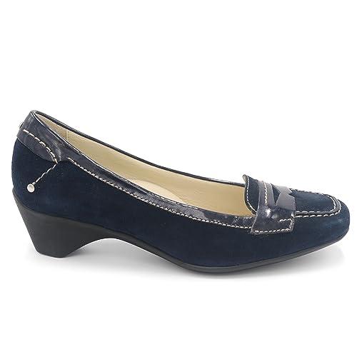 Stonefly Mocasines de ante para mujer Azul turquesa Azul Size: 37: Amazon.es: Zapatos y complementos