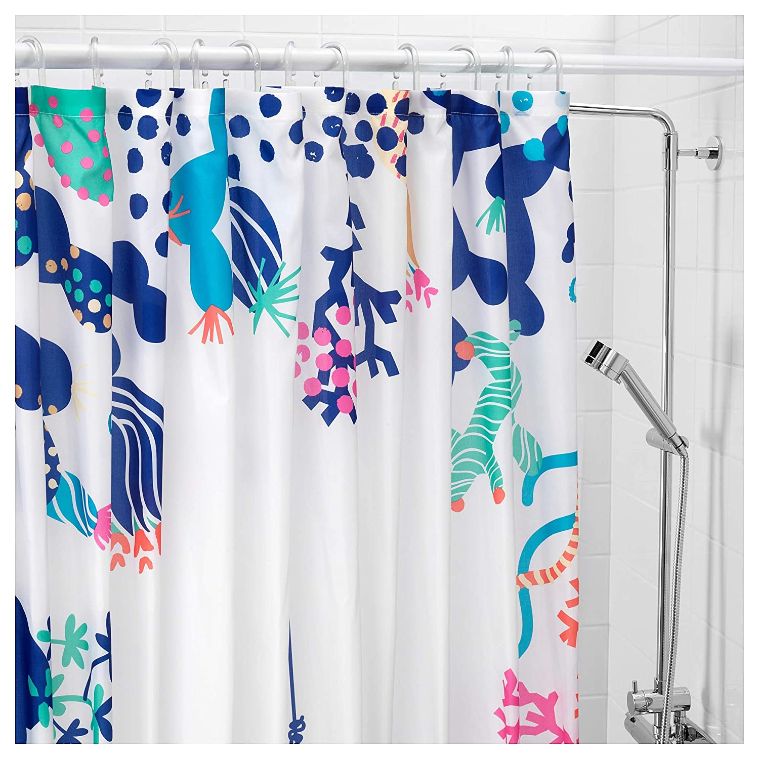 Kess InHouse S Seema Z Lily Explosion Pink Mulitcolor Shower Curtain 69 by 70