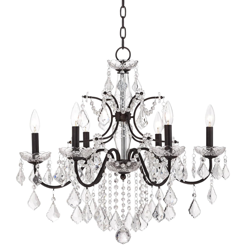 Beverly 26 Wide Dark Bronze Frame Clear Crystal Chandelier – Vienna Full Spectrum