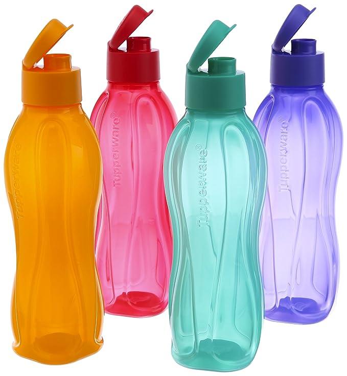 Amazon.com: Tupperware fliptop Botella de agua Set, 750 ml ...
