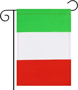 No Logo Garden Flag Italy Italian Garden Flag,Garden Decoration Flag,Indoor and Outdoor Flags,Celebration Parade Flags,Anniversary Celebration, National Day,Double-Sided.