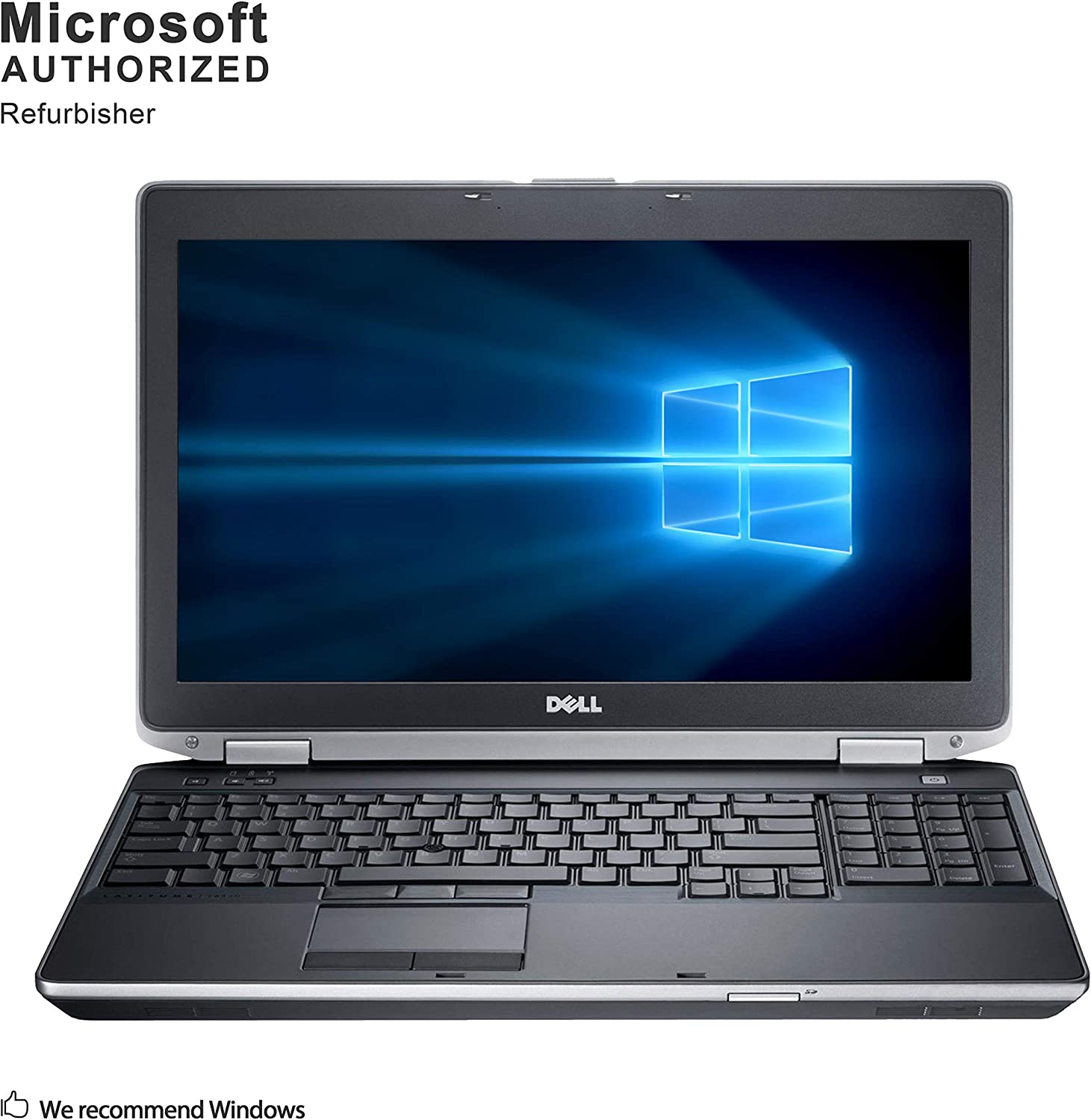 Dell Latitude E6530 15.6 Inch Business Laptop, Intel Core i5-3320M up to 3.3GHz, 4G DDR3, 500G, DVD, WiFi, VGA, HDMI, Win 10 Pro 64 Bit Multi-Language Support English/French/Spanish(Renewed)