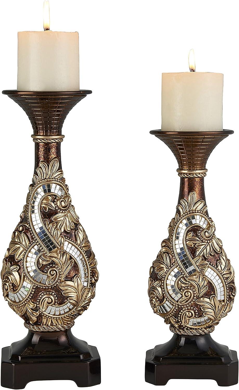 "OK Lighting 12""& 14"" H Daliyah Candle Holder"