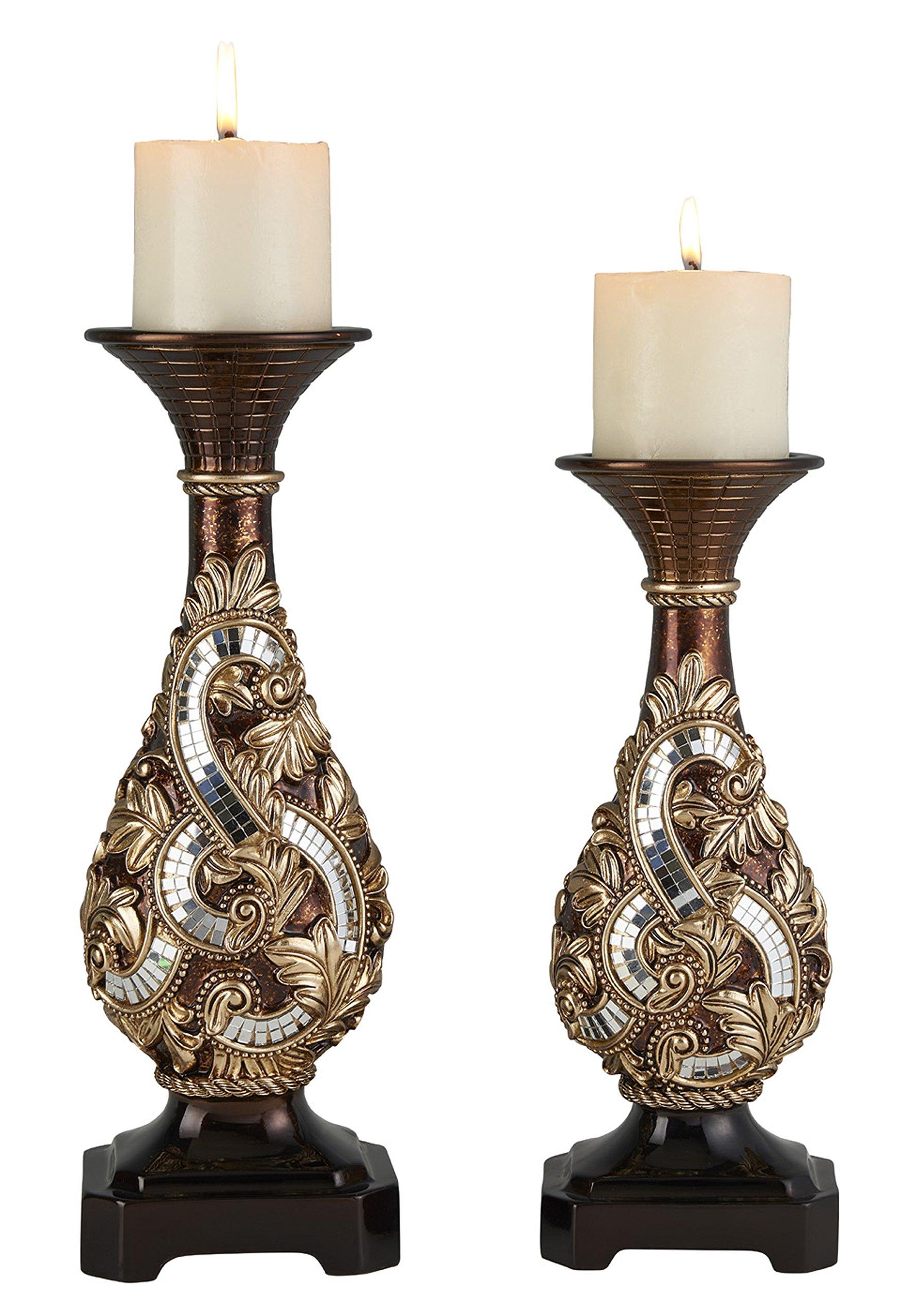 OK Lighting 12''& 14'' H Daliyah Candle Holder