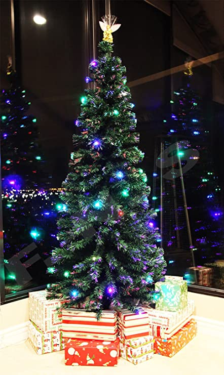 Image Unavailable. Image not available for. Color: 7.5 FT PRE-LIT MULTI  COLOR LED LIGHTS & FIBER OPTIC CHRISTMAS TREE ... - Amazon.com: 7.5 FT PRE-LIT MULTI COLOR LED LIGHTS & FIBER OPTIC