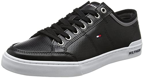 Tommy Hilfiger Core Corporate Leather Sneaker, Sneakers Basses Homme