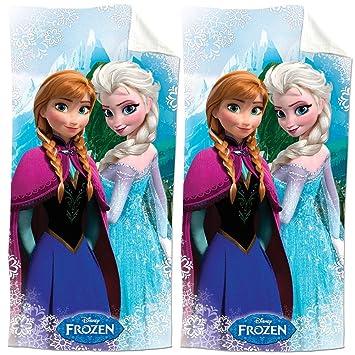(Set/2) película de Disney Frozen Snow Queen Elsa y la princesa Anna toallas de playa: Amazon.es: Hogar