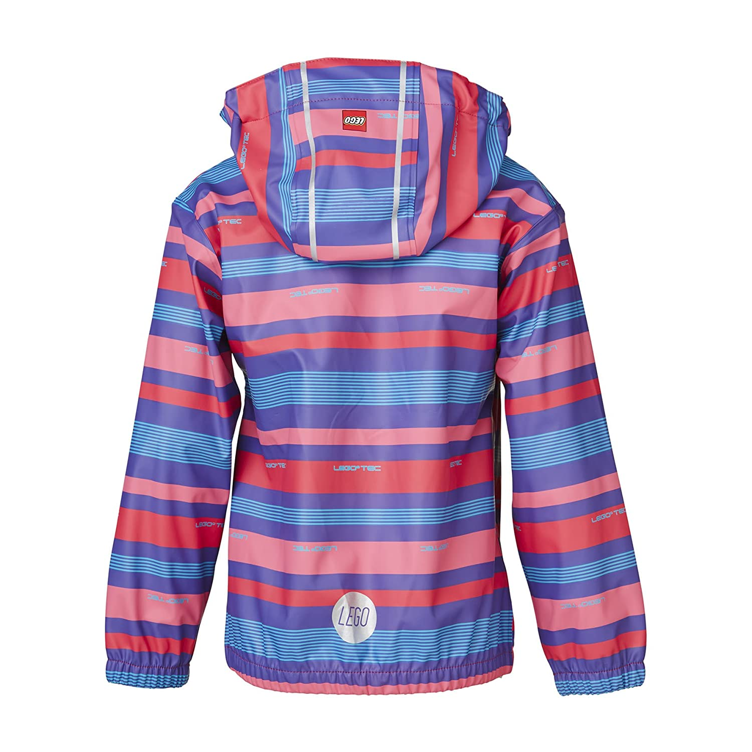 LEGO Wear Girls Waterproof Stripey Jacket of Denmark