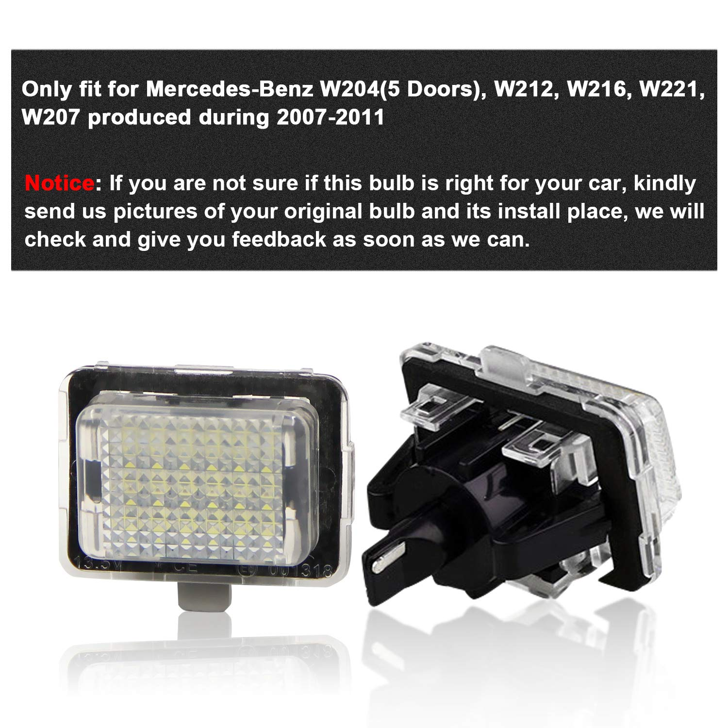 SY-024 Win Power Error Free LED Licence Number Plate Light Assembly Cool White Lamps Bulb for 3 Series E46 4D Sedan 325i 325xi,Pack of 2
