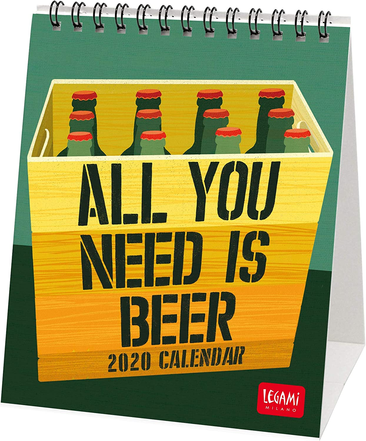 Legami - Calendario de mesa 2020 - Medidas 12 x 14 cm, color Beer ...