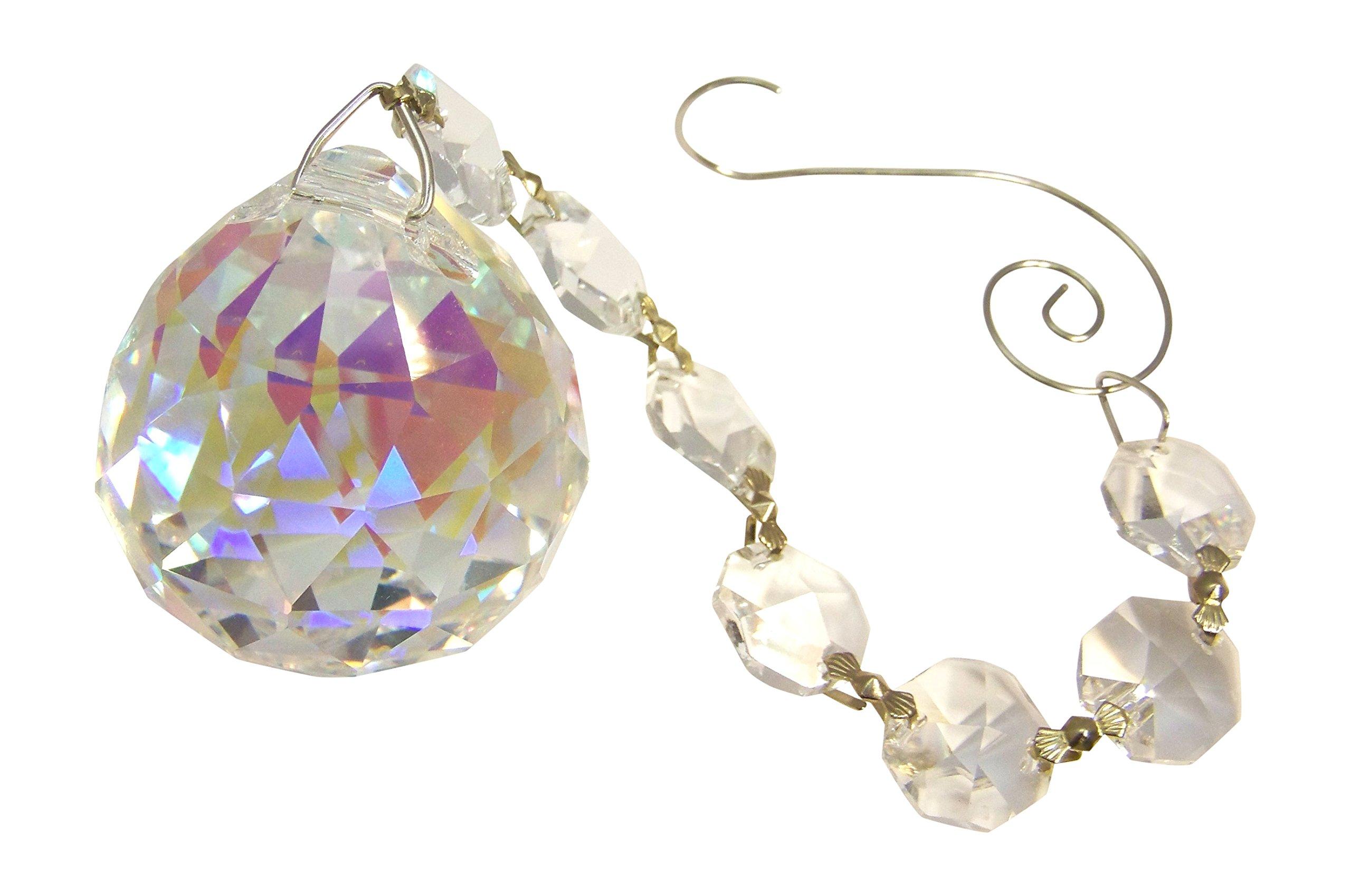 GypsyBeat Crystal Dream 40mm 1.57'' aurora borealis (AB) crystal prism ball suncatcher (GBCDAB)