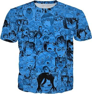 31bee09f3e2a KAKARO Ahegao Anime 3D T-Shirt Men s Women s Hip Hop Street Top T-Shirt