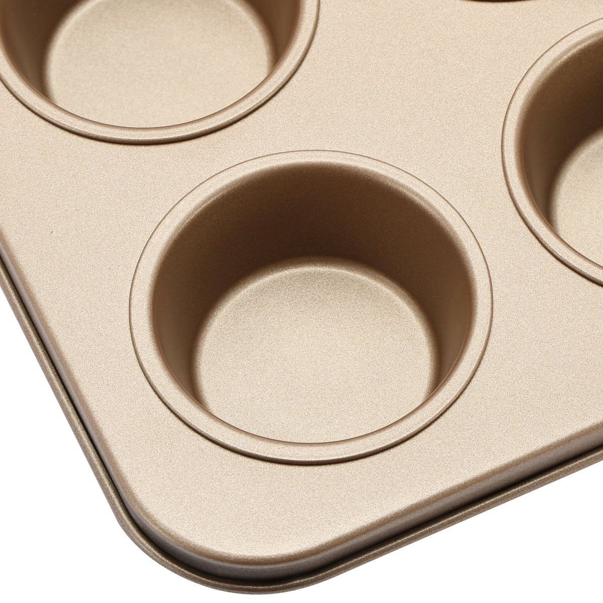 Fishonly Carbon Steel Nonstick 9 Cups Muffin Pan Cupcake Tart Mold Tray Cookie Bake Pan (Round) by fishonly (Image #3)