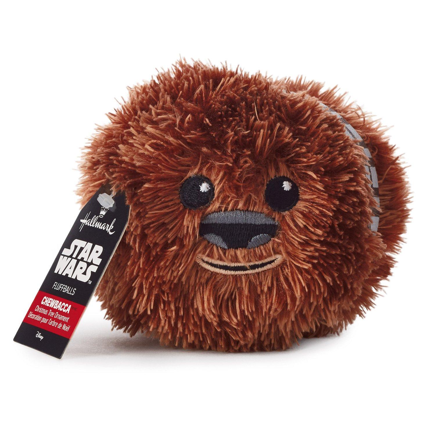 Amazon.com: Hallmark Star Wars Chewbacca Fluff Ball Ornament: Home ...