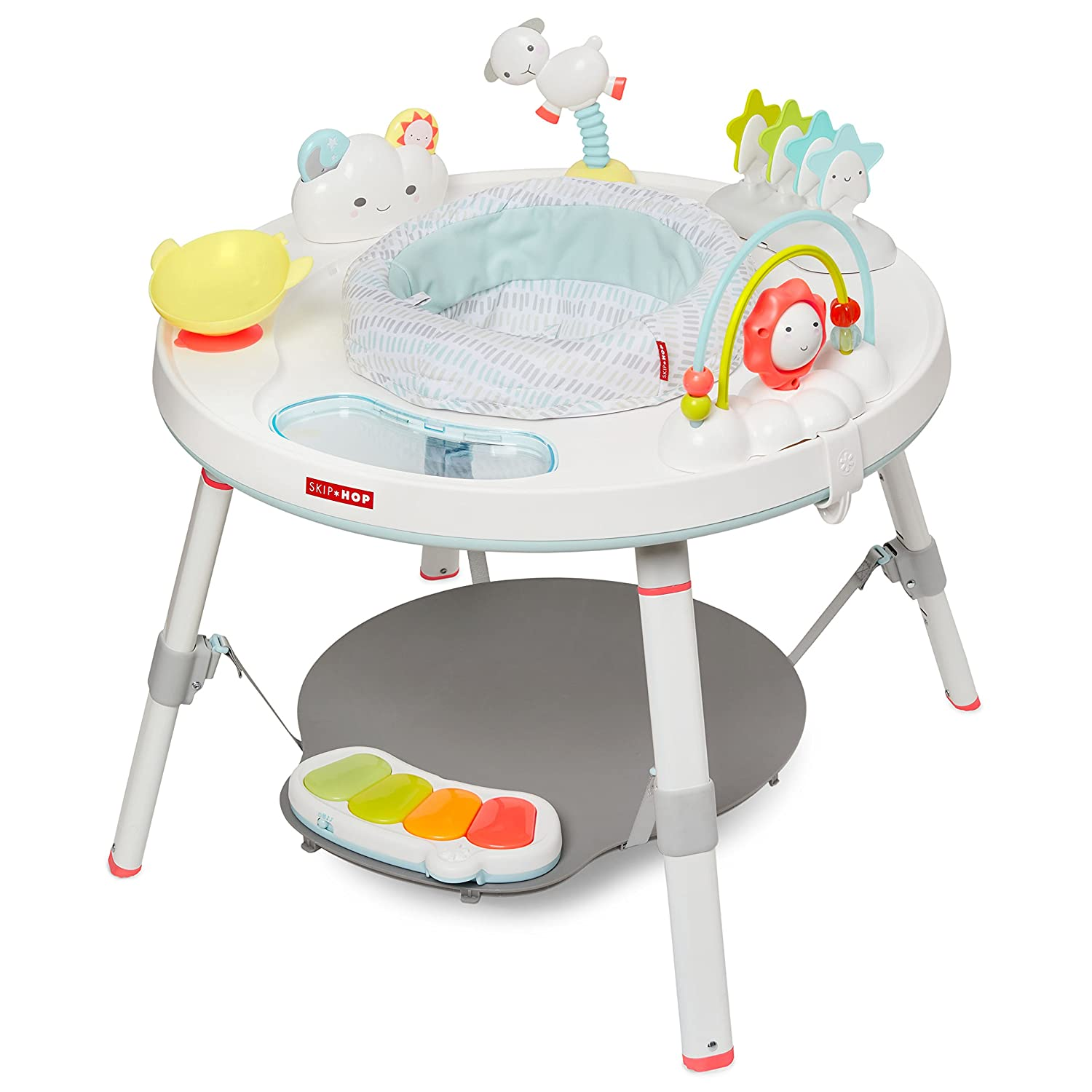 Skip Hop Silver Lining Cloud Baby's View 3-stage Interactive Activity Center, Multi-color, 4 Month Image