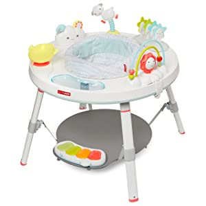 Skip Hop Silver Lining Cloud Baby's View 3-stage Interactive Activity Center, Multi-color, 4 Month