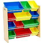 AmazonBasics Organizador de juguetes, natural/primario