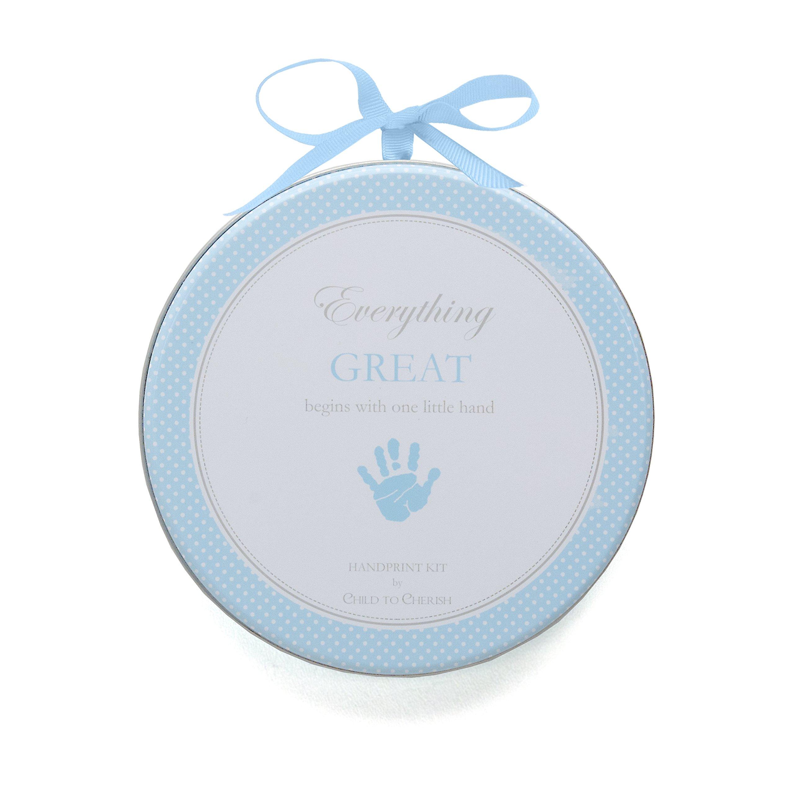 Child to Cherish My Child's Handprint with Hanger, Blue