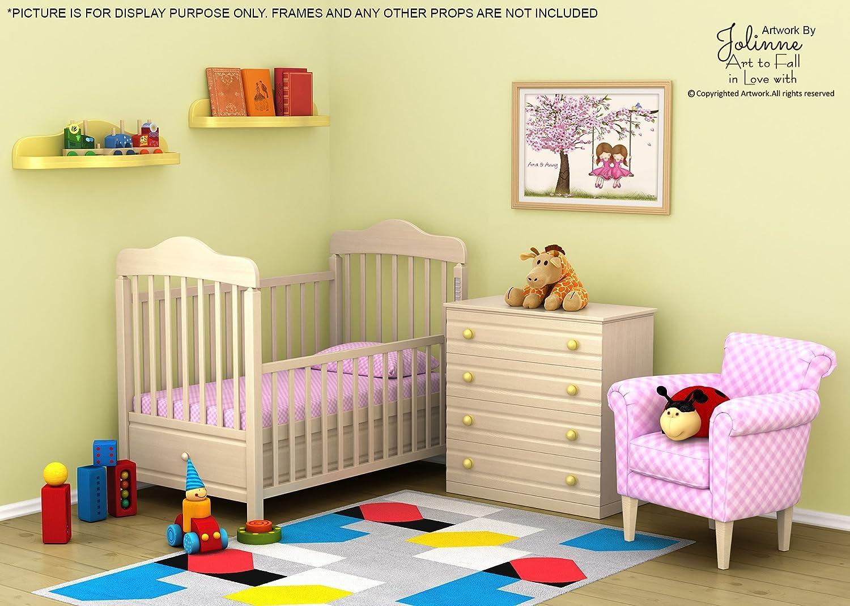 Amazon.com: Sisters Room Wall Art Twin Girls Cherry Blossom Tree ...