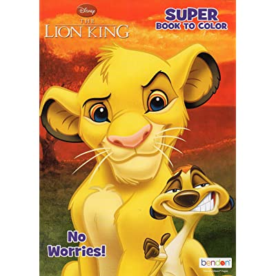 Disney The Lion King - No Worries - Supper Book to Color - Coloring & Activity Book: Toys & Games