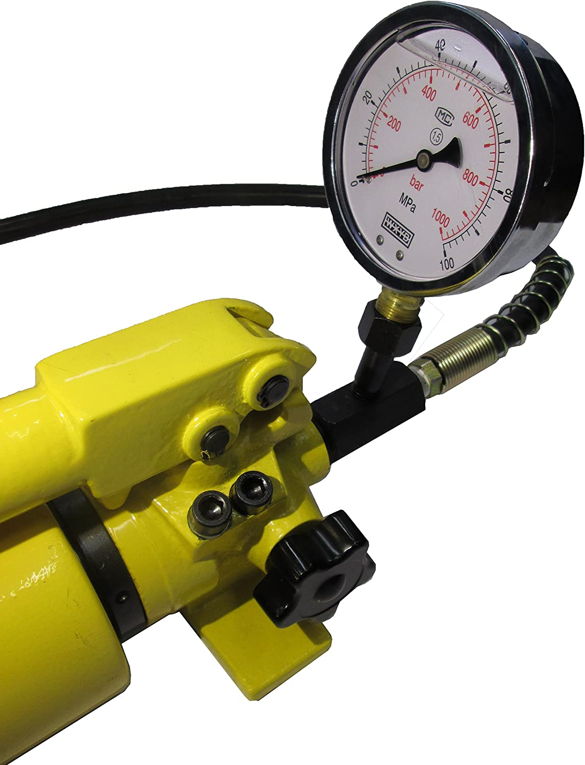 B-700AB Hydraulic Hand Pump Two Speed with Pressure Gauge 10000 psi - 165 in3