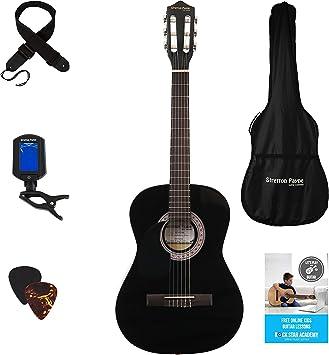 Juego de guitarra infantil clásica con cuerdas de nailon, para ...