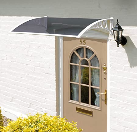 Delicieux Front Door Canopy 1200mm Tinted Easy Fit Canopy For Front Or Back Door  Protects From Rain