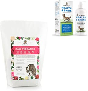 Dr. Harvey's Raw Vibrance 6lb Base Mix for Dogs paired with Health & Shine Omega 3 Fish Oil for Dogs