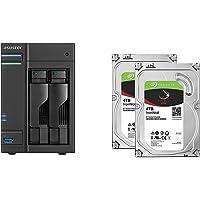 Set bestehend aus zwei Seagate Ironwolf 4 TB NAS optimierten Festplatten mit IHM Technik & Asustor NAS AS6302T