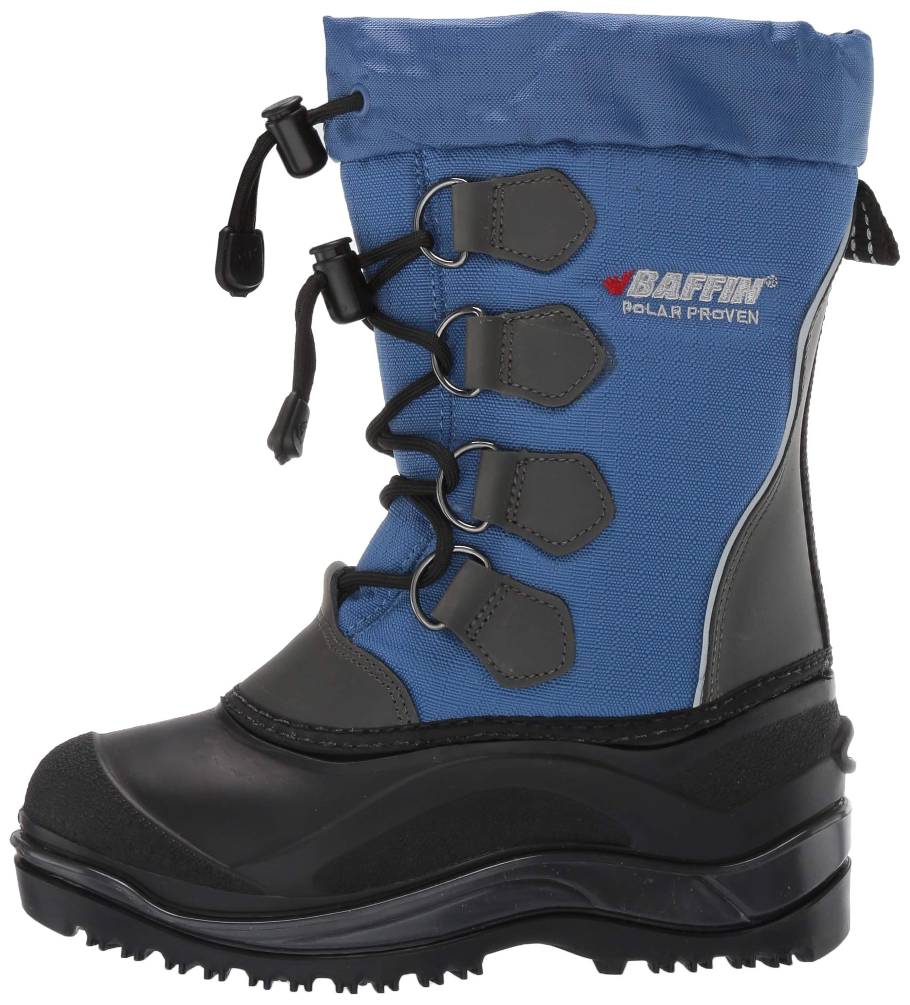 Baffin Unisex SNOWPACK Snow Boot, Blue, 2 Youth US Little Kid by Baffin (Image #5)