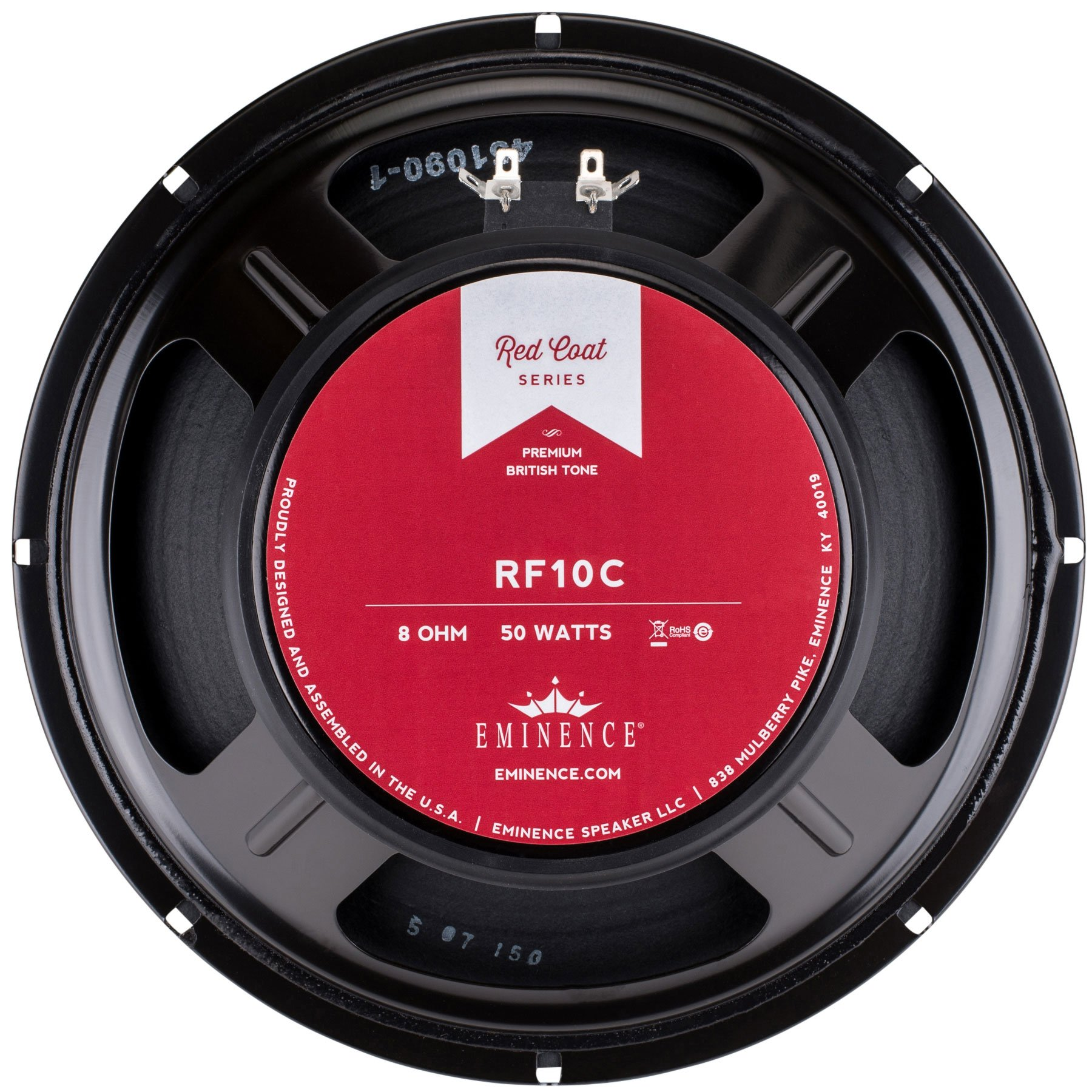 Eminence Redcoat Guitar RF10C Red Fang 10'' Guitar Speaker, 50 Watts at 8 Ohms